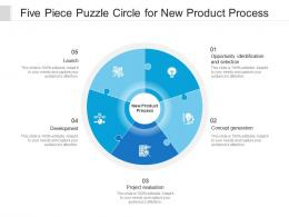 Five Piece Puzzle Circle For New Product Process