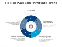 Five Piece Puzzle Circle For Production Planning