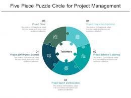Five Piece Puzzle Circle For Project Management