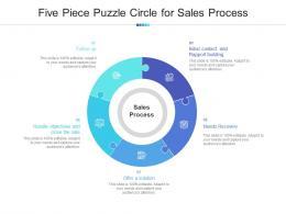 Five Piece Puzzle Circle For Sales Process
