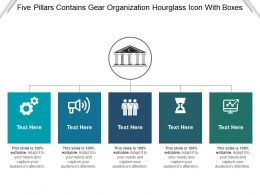 Five Pillars Contains Gear Organization Hourglass Icon With Boxes