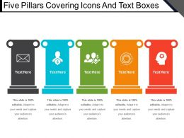 Five Pillars Covering Icons And Text Boxes
