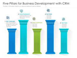 Five Pillars For Business Development With CRM