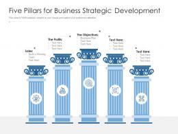Five Pillars For Business Strategic Development