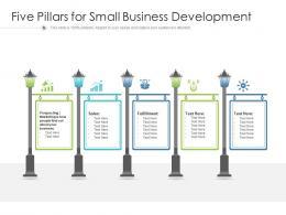 Five Pillars For Small Business Development