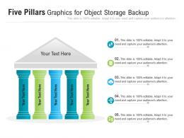 Five Pillars Graphics For Object Storage Backup Infographic Template