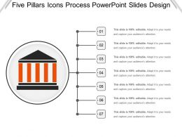 Five Pillars Icons Process Powerpoint Slides Design