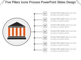 Five Pillars Icons Process Powerpoint Slides Design