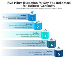 Five Pillars Illustration For Key Risk Indicators For Business Continuity Infographic Template