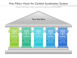 Five Pillars Visual For Content Syndication System Infographic Template