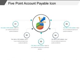 Five Point Account Payable Icon Powerpoint Slide Information