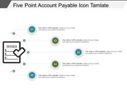 Five Point Account Payable Icon Tamplate Powerpoint Slide Inspiration