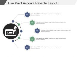 Five Point Account Payable Layout Powerpoint Slide Graphics