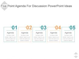 Five Point Agenda For Discussion Powerpoint Ideas