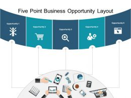 Five Point Business Opportunity Layout Powerpoint Slide Background