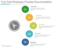 Five Point Business Process Documentation Powerpoint Slides