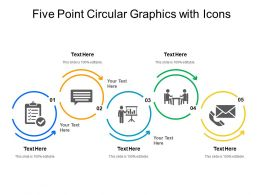 Five Point Circular Graphics With Icons