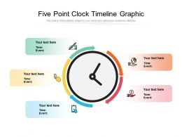 Five Point Clock Timeline Graphic