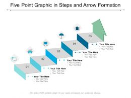Five Point Graphic In Steps And Arrow Formation