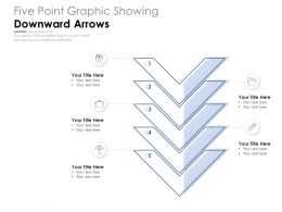 Five Point Graphic Showing Downward Arrows