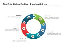 Five Point Hollow Pie Chart Puzzle With Icons