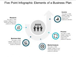 Five Point Infographic Elements Of A Business Plan