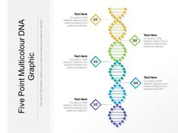 Five Point Multicolour DNA Graphic