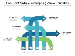 Five Point Multiple Overlapping Arrow Formation