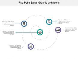 Five Point Spiral Graphic With Icons