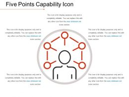 Five Points Capability Icon Ppt Presentation Examples