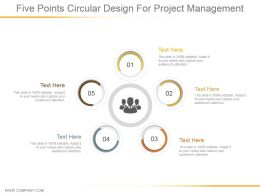 Five Points Circular Design For Project Management Powerpoint Slide