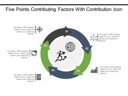 Five Points Contributing Factors With Contribution Icon