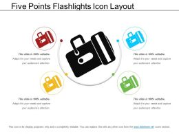 Five Points Flashlights Icon Layout