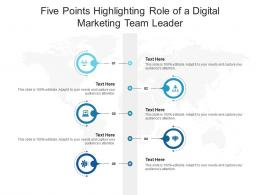 Five Points Highlighting Role Of A Digital Marketing Team Leader Infographic Template