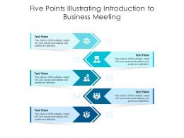 Five Points Illustrating Introduction To Business Meeting Infographic Template