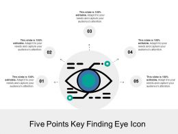Five Points Key Finding Eye Icon