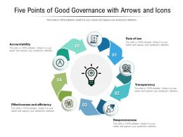 Five Points Of Good Governance With Arrows And Icons