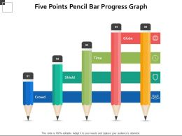 Five Points Pencil Bar Progress Graph
