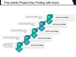 Five Points Project Key Finding With Icons