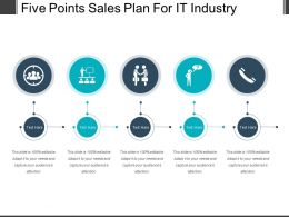 Five Points Sales Plan For It Industry Example Of Ppt
