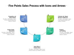 Five Points Sales Process With Icons And Arrows