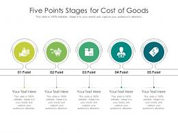 Five Points Stages For Cost Of Goods Infographic Template