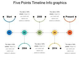 Five Points Timeline Info Graphics