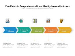 Five Points To Comprehensive Brand Identity Icons With Arrows