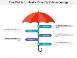 Five Points Umbrella Chart With Numberings