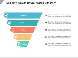 Five Points Upside Down Pyramid With Icons