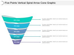 Five Points Vertical Spiral Arrow Cone Graphic
