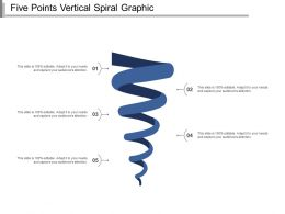 Five Points Vertical Spiral Graphic