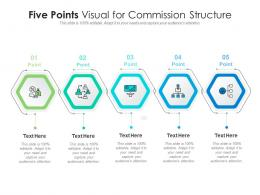 Five Points Visual For Commission Structure Infographic Template