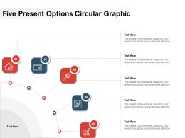 Five Present Options Circular Graphic